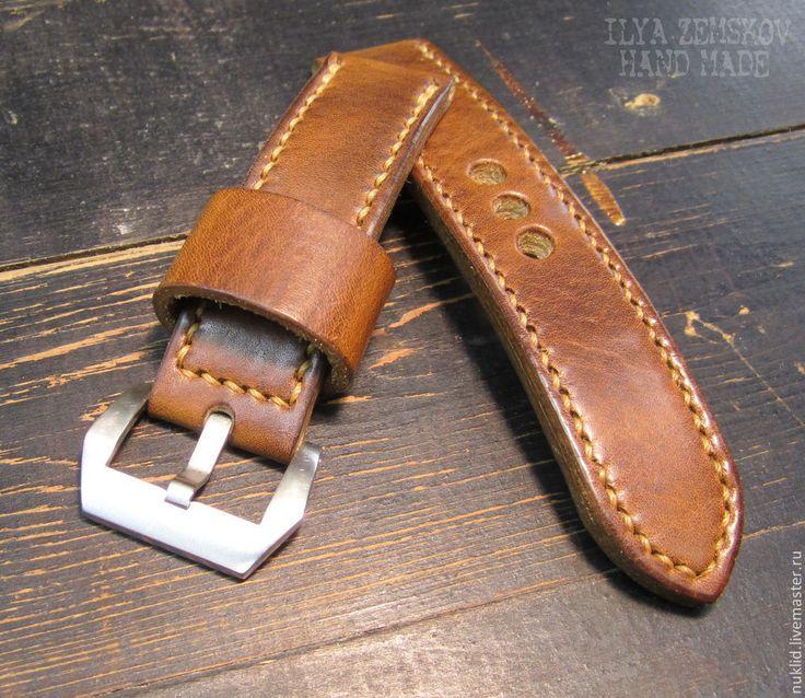 Купить Кожаный ремешок для часов Panerai - коричневый, ремешок для часов, кожаный ремешок для часов