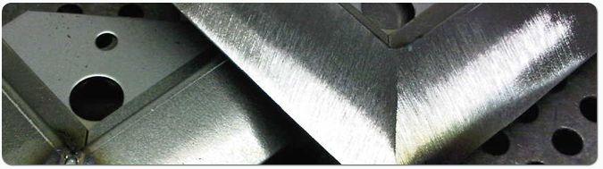 Ground off welds - corner joint