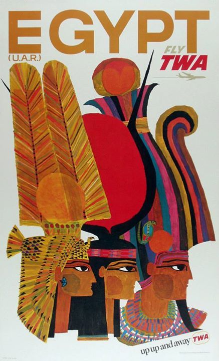 Egypt by TWA, vintage travel poster. ~via Vintage Advertising and Poster Art, FB