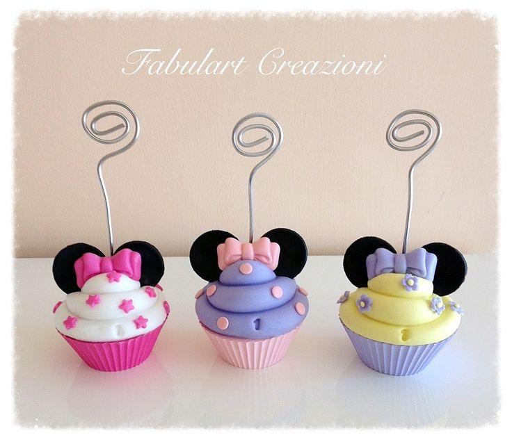 Bomboniera stile Minnie primo compleanno in porcellana fredda (pasta di mais) e gesso  http://fabulartcreazioni.blogspot.it/