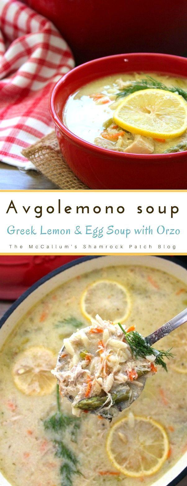 Avgolemono - Greek Lemon and Egg Soup with Orzo