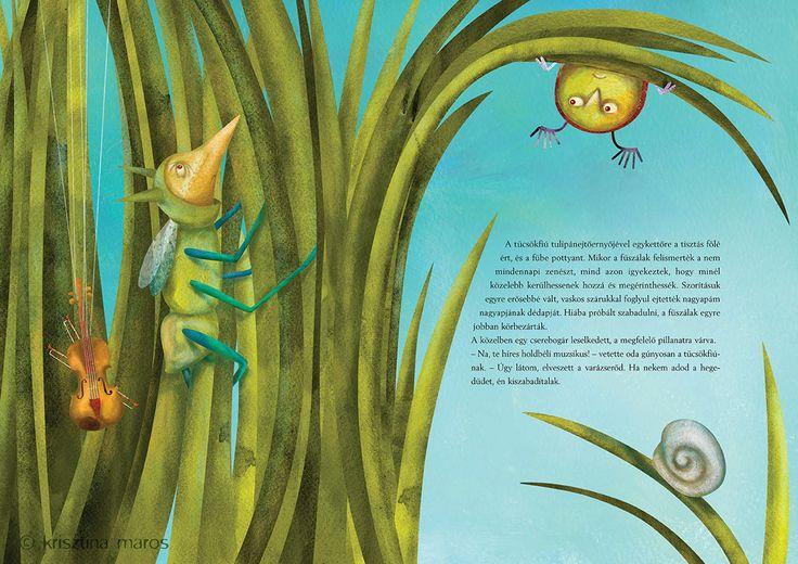 'Cricket on the Moon' - children's book © Krisztina Maros 2012