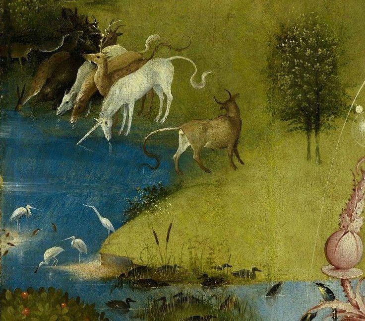 399 best images about ancient unicorns on pinterest for Bosch jardin des delices