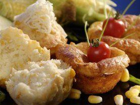 Kukoricás, sajtos muffin recept