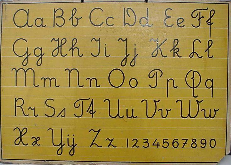 Schoolplaten uit de jaren 50 tot 70...This was the type of penmanship I was taught at school in Holland!!!
