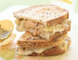 Vegan Tempeh Reubens- Vegetarian Thousand Island dressing