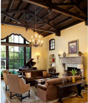 Best 25 mediterranean living rooms ideas on pinterest for Spanish revival interior design