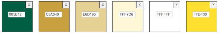 color scheme with hexadecimal codes