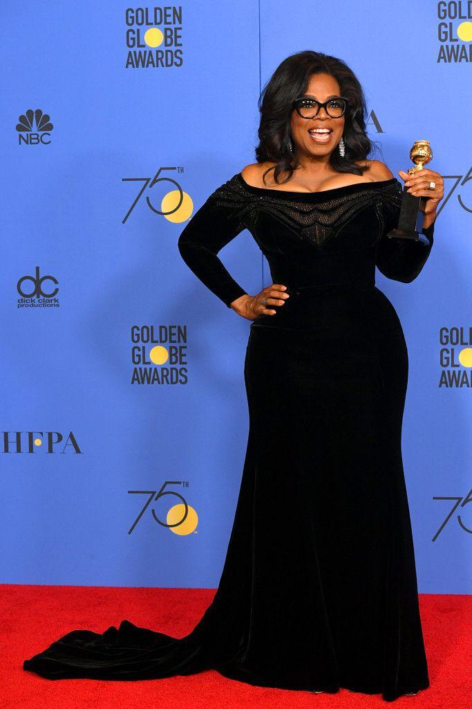 Oprah Winfrey Oprah Winfrey Style Fashion Golden Globes Fashion