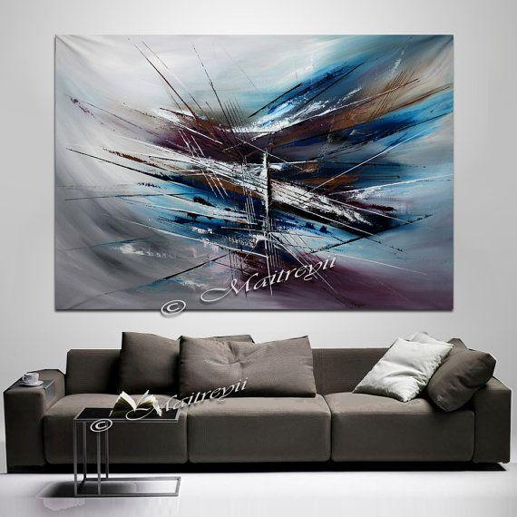 Énorme SURRÉALISTE peinture ART abstrait peinture par largeartwork