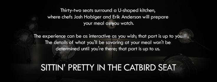 Dinner at The Catbird Seat Restaurant in Nashville, TN