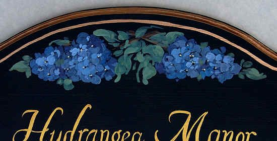 Kreative Hausnummern, Hydrangea Hausschilder nach Wunschtext