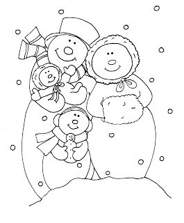 Free Dearie Dolls Digi Stamps: Snowman Family