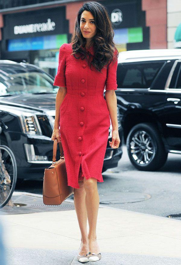 amal-clooney-street-style-vestido-vermelho