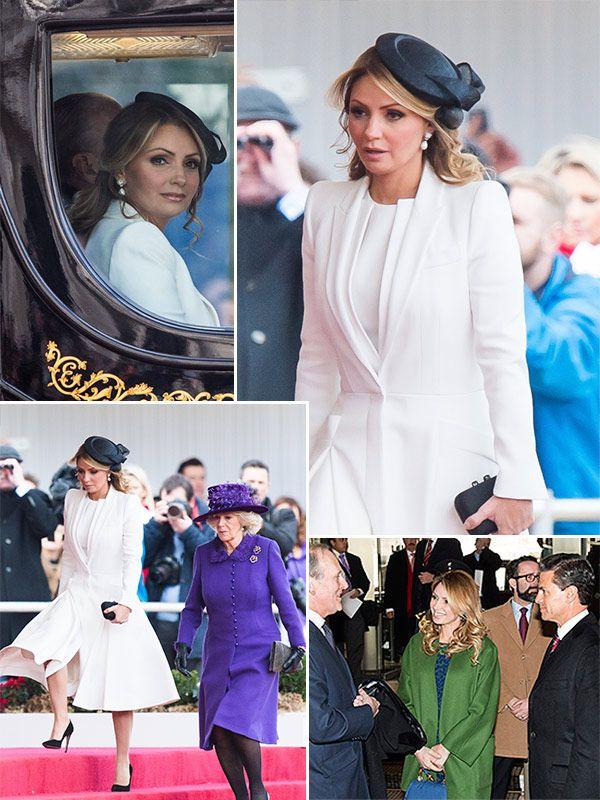 Angélica Rivera, lecciones de estilo Londres, en visita de Estado a la Reina Isabel II