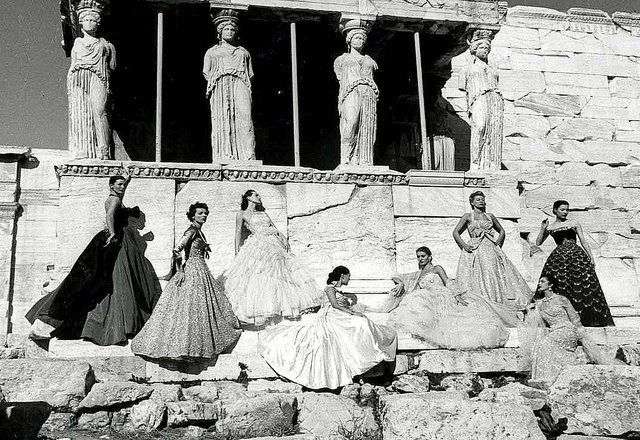 Christian Dior decorates the Acropolis of Athens