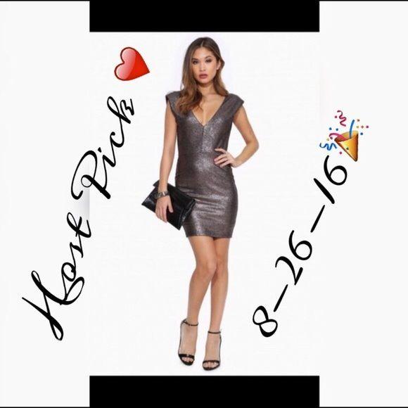 💝HP-8-26-16 You Won't Foil Me Again Bodycon Dress 💝Weekend Wardrobe HP💝 Silver Bodycon Dress Necessary Clothing Dresses Mini
