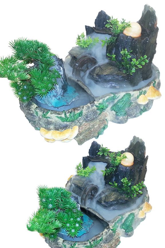 Tranquil pond feng shui fountain the o 39 jays water for Water feature feng shui
