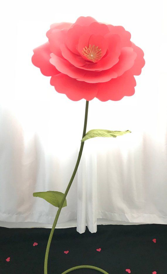 Giant Flower Stem Tutorial Diy Large Flower Stem Giant Paper