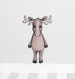 Oden the moose sticker   Removable nursery wall stickers  www.peppapenny.com  Shop 3, 1642 Anzac Ave  North Lakes, QLD 4509