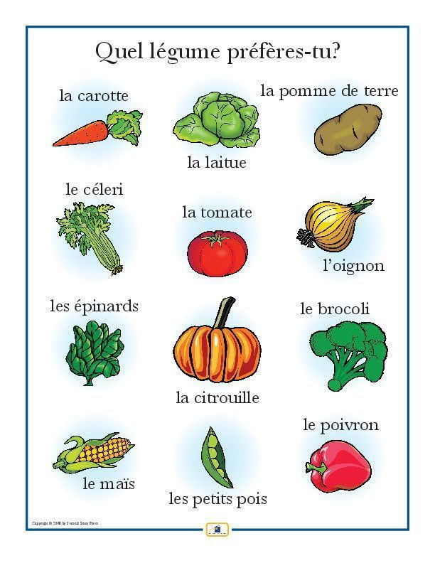 Second Story Press French Vegetables Poster $5.95/ voir aussi: http://c.deruy.ouvaton.org/exemples/moodle-scenarisationPedagogique/co/6Scenarisation_web.html #frenchlanguage #easyfrenchlanguage