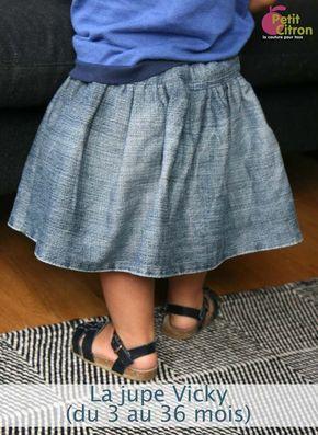 Modèle gratuit: Jupe Vicky pour bébé fille – www.petitcitron.c …   – Projets à essayer