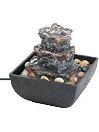 Tabletop Fountain, Electric Polyresin Designers Indoor Waterfall Fountain #TabletopFountains
