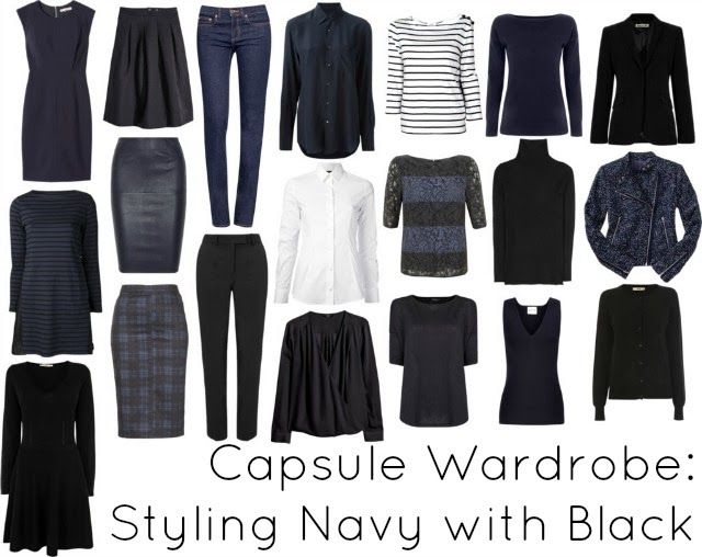 Wardrobe Oxygen: Ask Allie: Styling Navy with Black capsule wardrobe