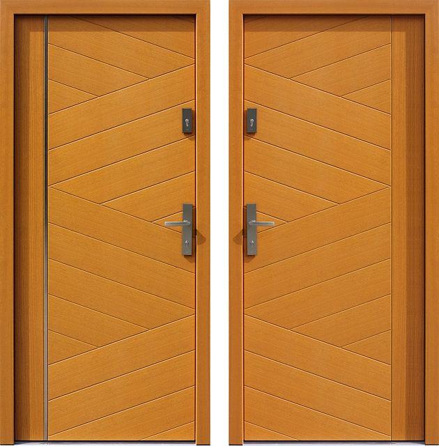 Drzwi wejściowe do domu z katalogu inox wzór 430,5-500B