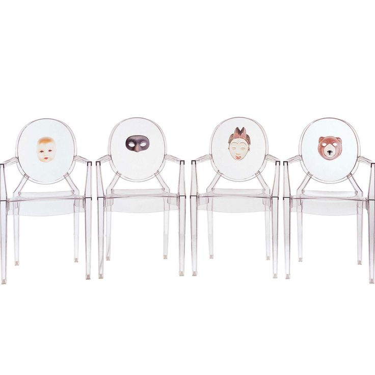 Kartell Lou Lou Mask Ghost Chair By Philippe Starck