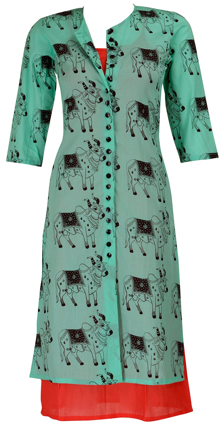 Cow print kurta from Masaba.   Gear up that wardrobe!    http://www.perniaspopupshop.com/designers-1/masaba