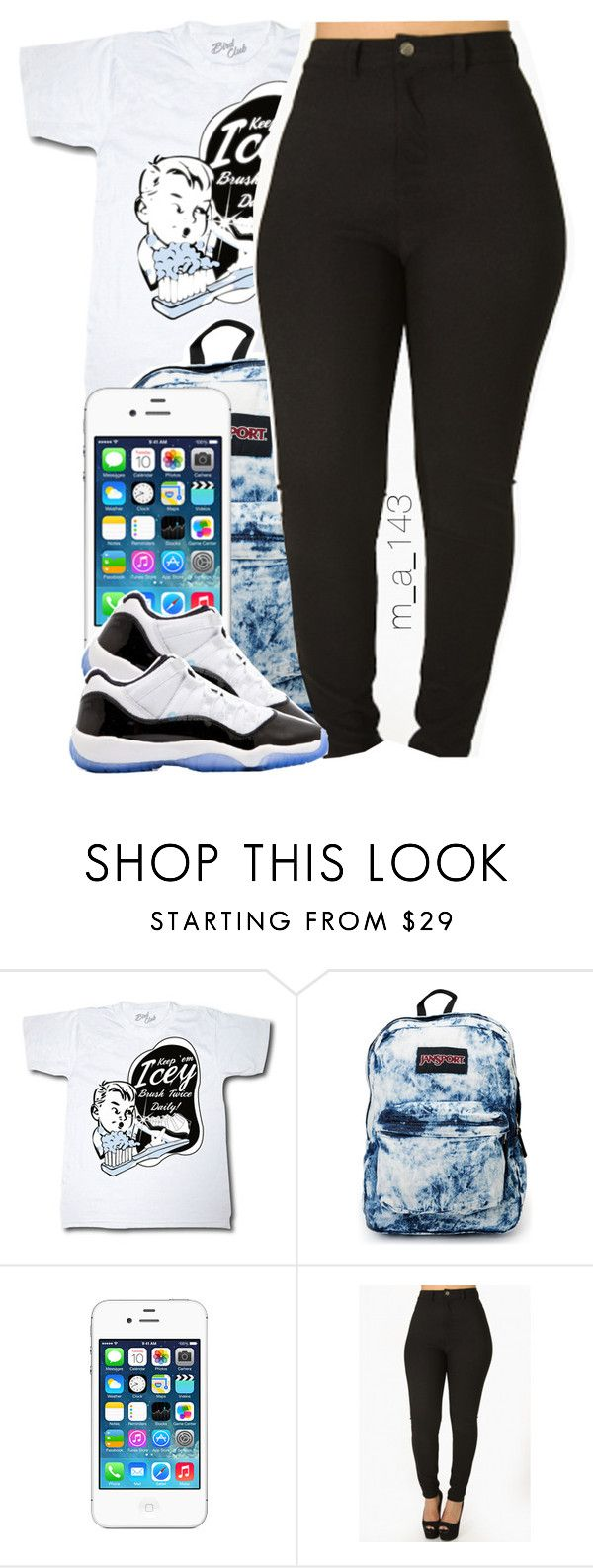 """air jordan 11 concord lows"" by mindlesslyamazing-143 ❤ liked on Polyvore featuring Concord and JanSport"