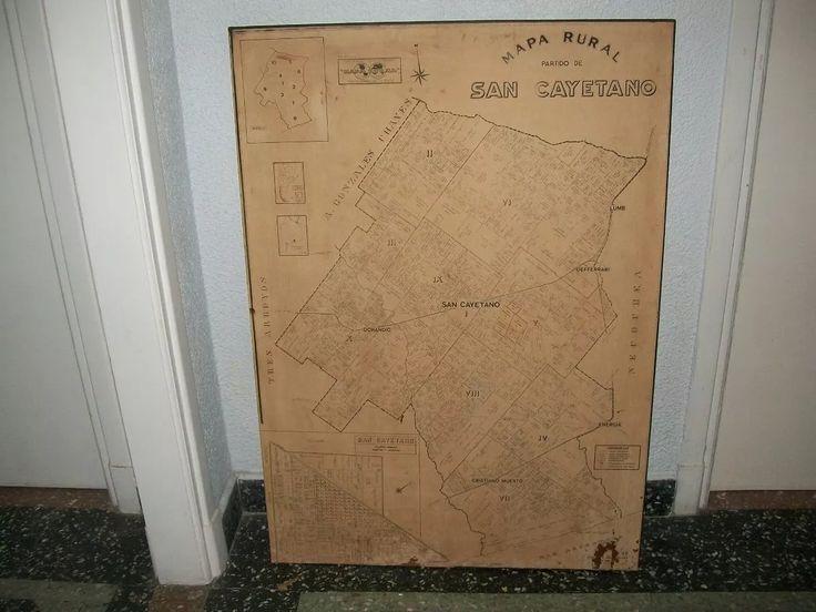 mapa rural antiguo partido san cayetano prov. buenos aires.