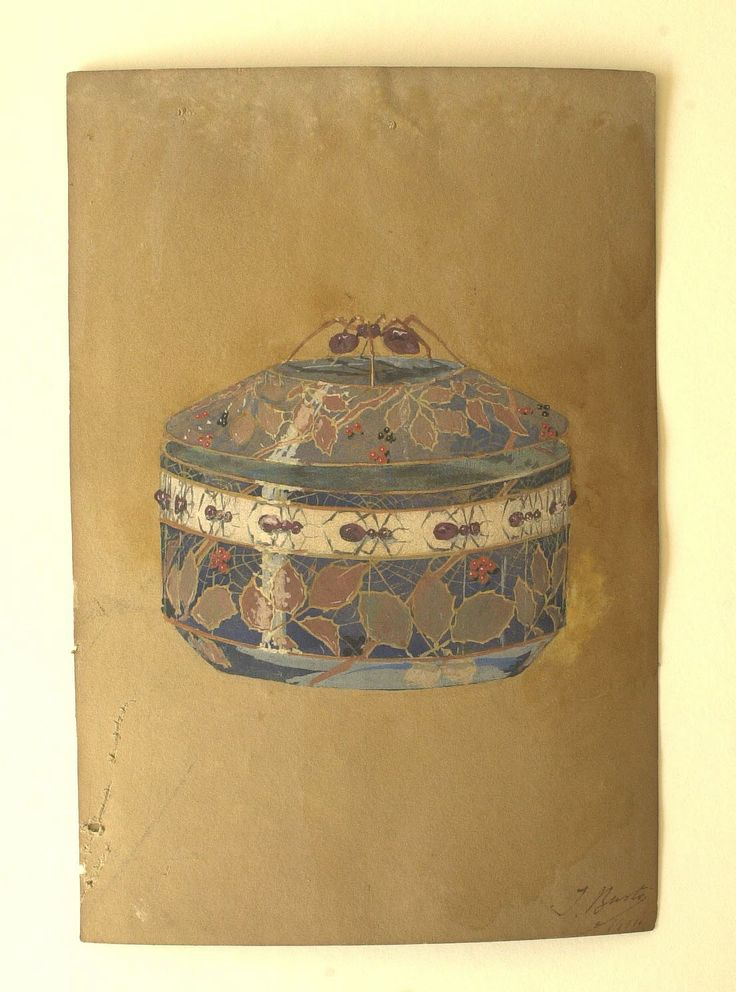 Diseño de caja de Julio Bustos González del Valle. Madrid, 1911. Museo Nacional de Artes Decorativas.