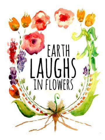 """Earth laughs in flowers!"" -Ralph Waldo"