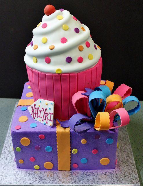 Cupcake + Present Cake