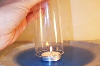 Experiment - Flaschenpumpe und Kerzenfahrstuhl - Stiftung Haus der kleinen Forscher
