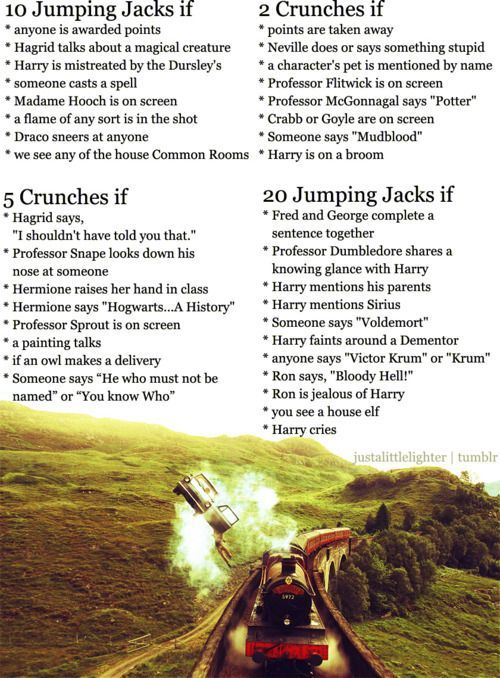 Harry Potter movie workout game Netflix TV Workouts, TV Workout Games