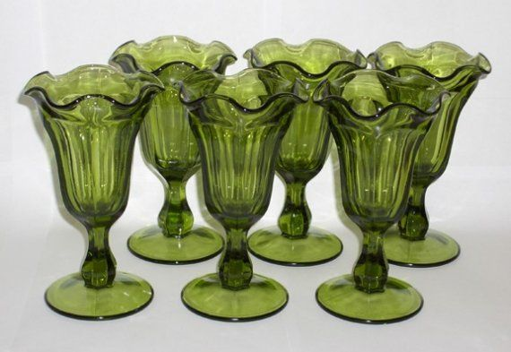 Items from Brady bunch kitchen   SUPER SALE - Brady Bunch worthy Ice Cream Sundae Glass Set late 60s ...