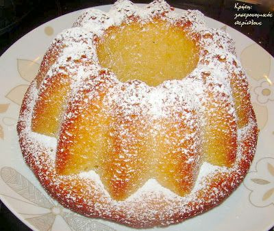 Απλό κέικ λεμονιού με ελαιόλαδο - Simple Lemon Cake with Olive Oil @cretangastronomy.blogspot.gr