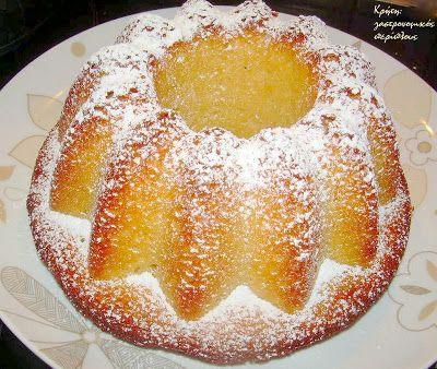 Απλό κέικ λεμονιού με ελαιόλαδο - Simple Lemon Cake with Olive Oil @cretangastronomy.blogspot.gr