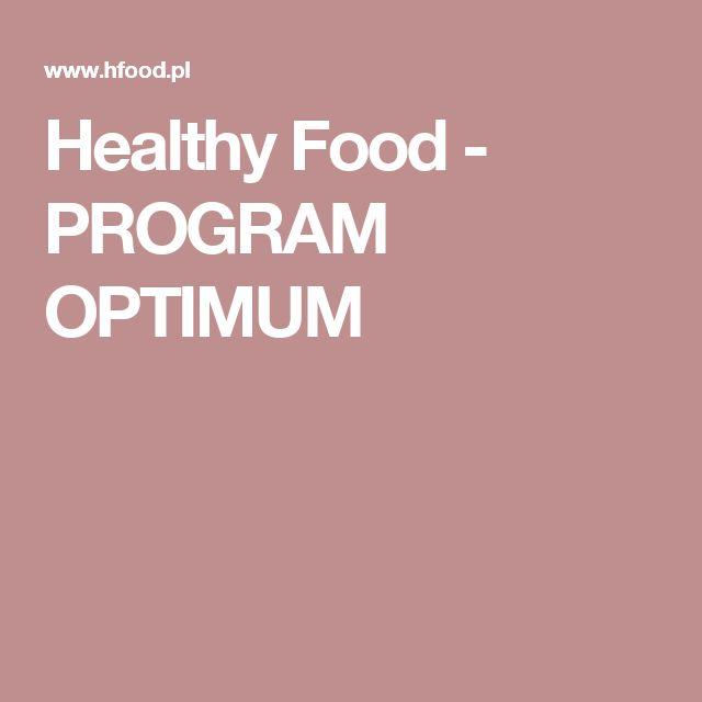 Healthy Food - PROGRAM OPTIMUM