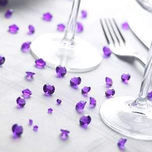 5000 Cadbury Purple Wedding Table Scatter Crystals 1/3C
