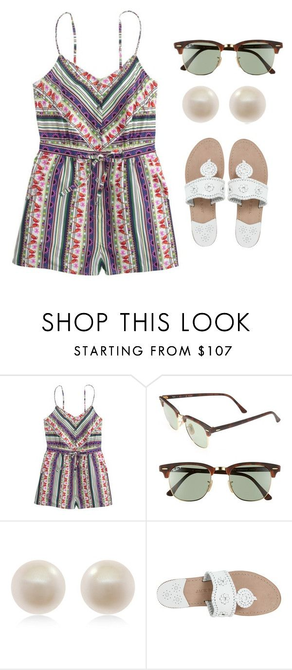 """""""Cheesecake Factory"""" by prep-eq ❤ liked on Polyvore featuring J.Crew, Ray-Ban, Links of London and Jack Rogers"""