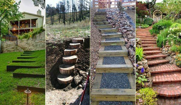 Los mejores 23 ideas de bricolaje para hacer de jardín Escaleras y Pasos