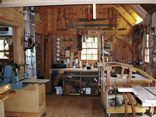 Perfect In A Small Shed Woodworking Shop Layout Httpwww