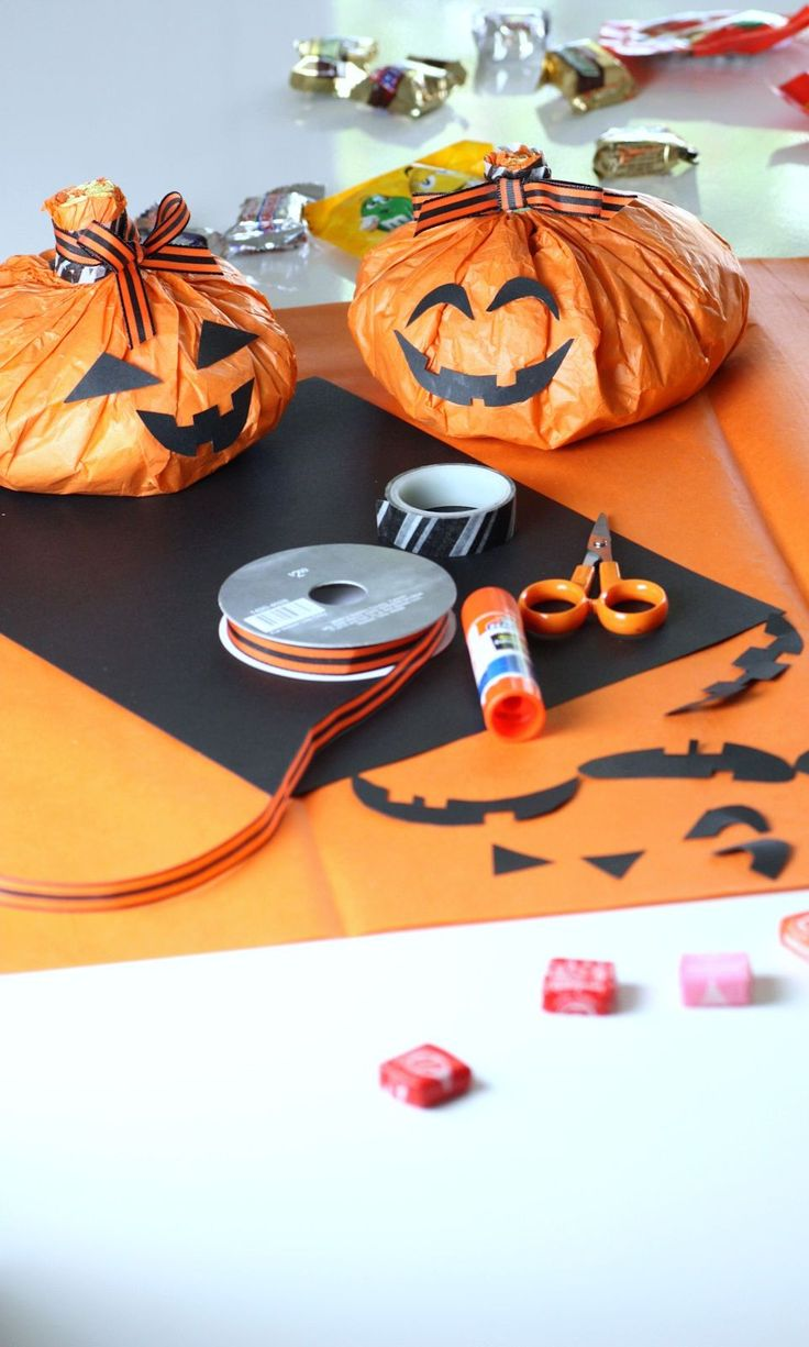 These Pumpkin Treat Bags Are So Simple To Make Just Wrap