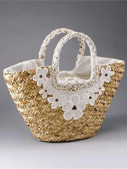 Bolsa de palha - Straw bag - Bolsa de praia - Beach bag - Bolso de la paja