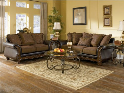 Signature Design By Ashley Del Rio Durablend Sedona 7 Pc Living Room Collection Of Designer Furniture Set
