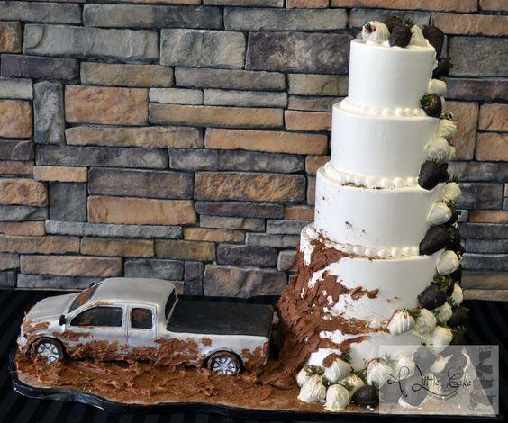 groom's cake ideas mudding trucks grooms cake? Yeah right real wedding cake more like @Mandi Nash